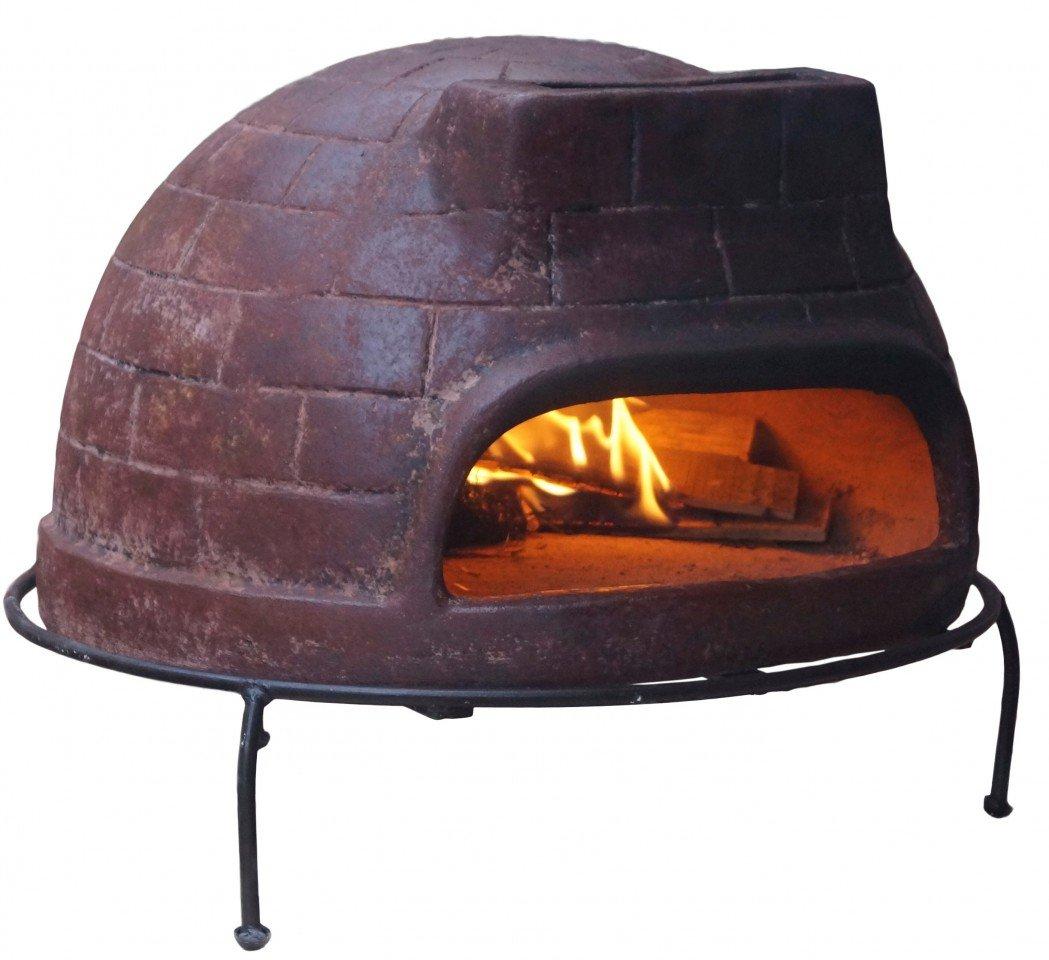 Pizzaofen Premium Venedig von Sol-y-Yo - Steinbackofen aus Terrakotta 52 cm | Unvergesslicher Pizza-Backspaß für draußen | Essen als Gemeinschaftserlebnis: Zusammen kochen, essen und lachen | Pizzaofen für den Garten | Pizzaback-Spaß für die ganze Familie