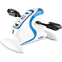 Klarfit Cycloony Mini Bicicleta estática portátil (70 W, indicador calorías, Distancia, Carga máxima 120kg, 12 velocidades, Mando a Distancia, Pantalla LCD, tamaño Compacto)