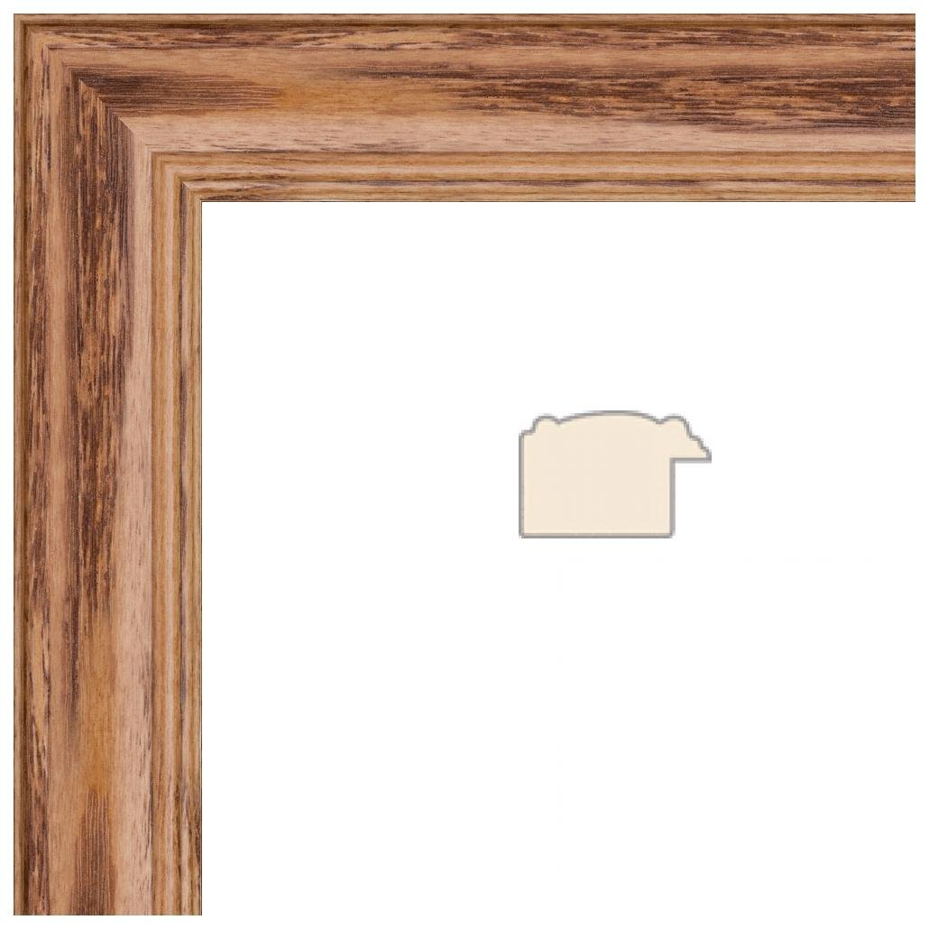 2WOM0066-59504-YHNY-17x17 ArtToFrames 17x17 inch Honey Stain on Solid Red Oak Wood Picture Frame