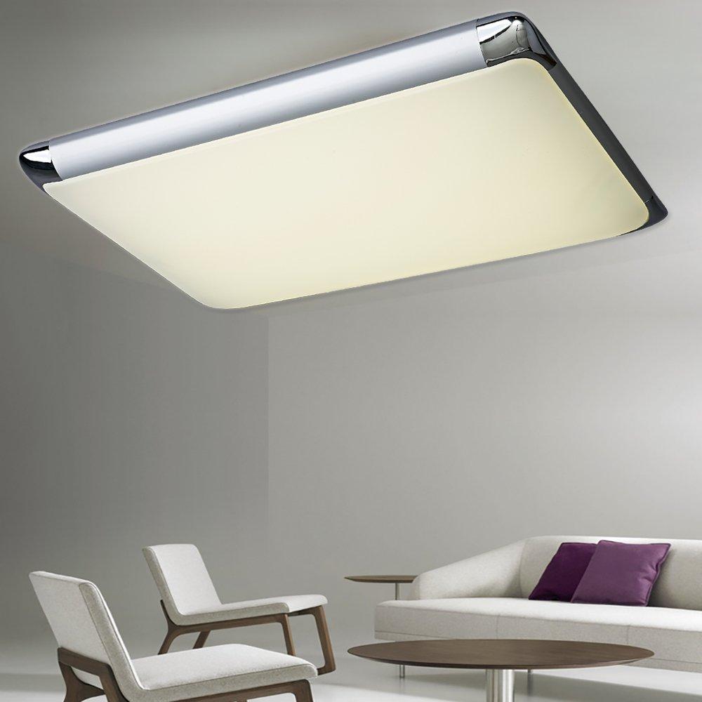 Natsen® 90W LED Deckenlampe Deckuchte Silber Warmweiß Kaltenleweiß ...