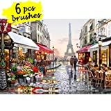 DIY Paint by Numbers Kit for Adults, Kids Beginner - Paris Street 16''x20''