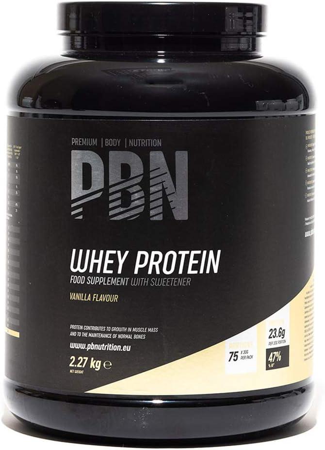 PBN - Proteína de suero de leche en polvo, 2.27 kg (sabor vainilla)