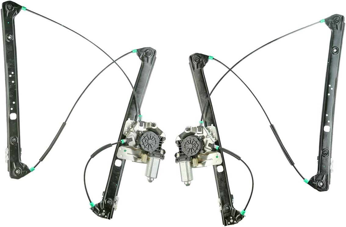 A-Premium Power Window Regulator with Motor for BMW E53 X5 2000-2006 Front Front Driver and Passenger