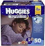 HUGGIES OverNites Diapers, Size 4 (22-37 lb.), 68