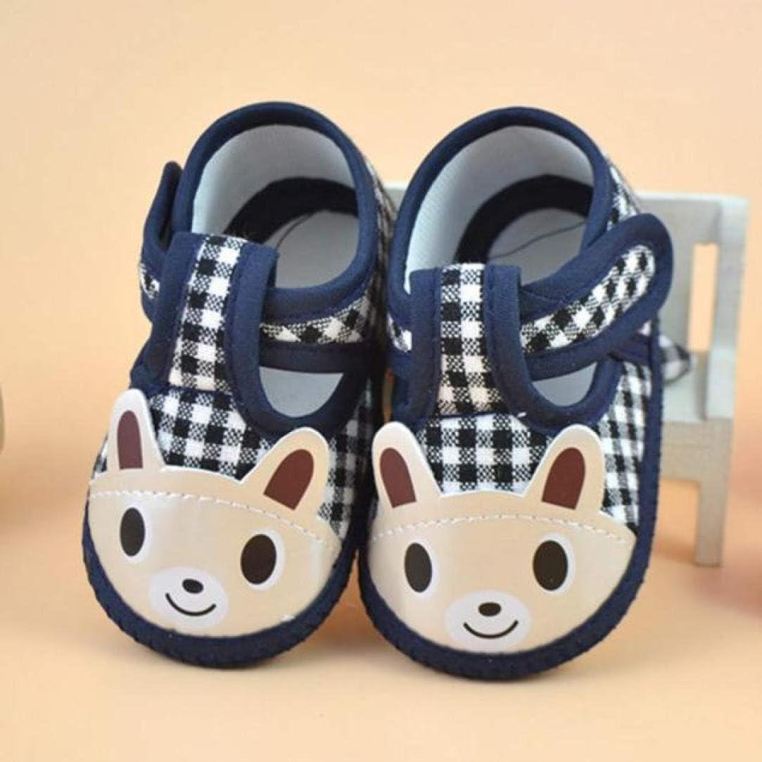WARMSHOP Newborn Girls Boys Cute Cartoon Soft Crib Shoes Toddler Canvas Sneaker
