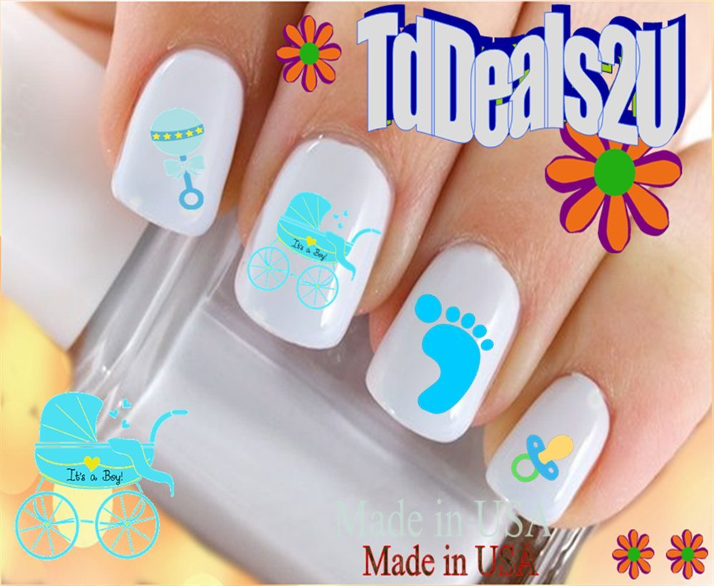 Amazon.com: General Nail Decals - Baby Boy Blue Rattle WaterSlide Nail Art  Decals - Highest Quality! Made in USA: Beauty - Amazon.com: General Nail Decals - Baby Boy Blue Rattle WaterSlide