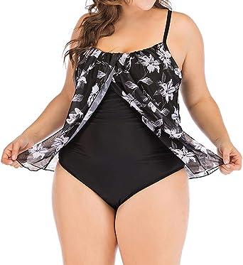 Tankini Mujer SHOBDW Talla Grande Bikini Sets Mono Traje de Baño Sumergido Ropa de Playa Acolchado Alta Cintura Negro Traje de Baño Dos Piezas: Amazon.es: Ropa y accesorios