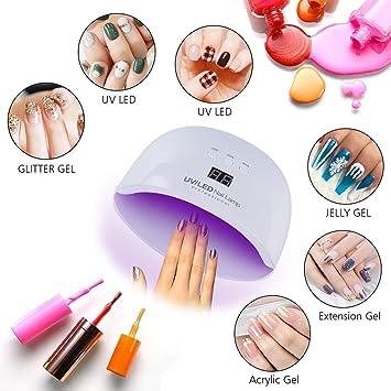Amazon.com: Ktyssp Professional Nail Art LED UV 24W Nail Dryer ...
