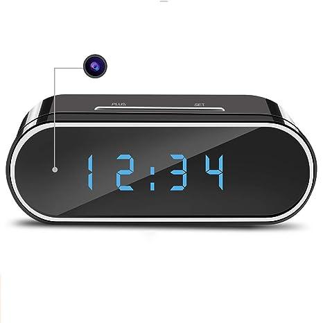 XAJGW Cámara espía ocultada wifi del reloj de alarma, visión nocturna inalámbrica de 1080P Cámara