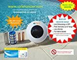 Solar pool/spa water purifier/ionizer with LED (Lights up if unit works) - 2 copper alloy anodes - Low Maintenance - Use 80% less chlorine & Save over $900/yr