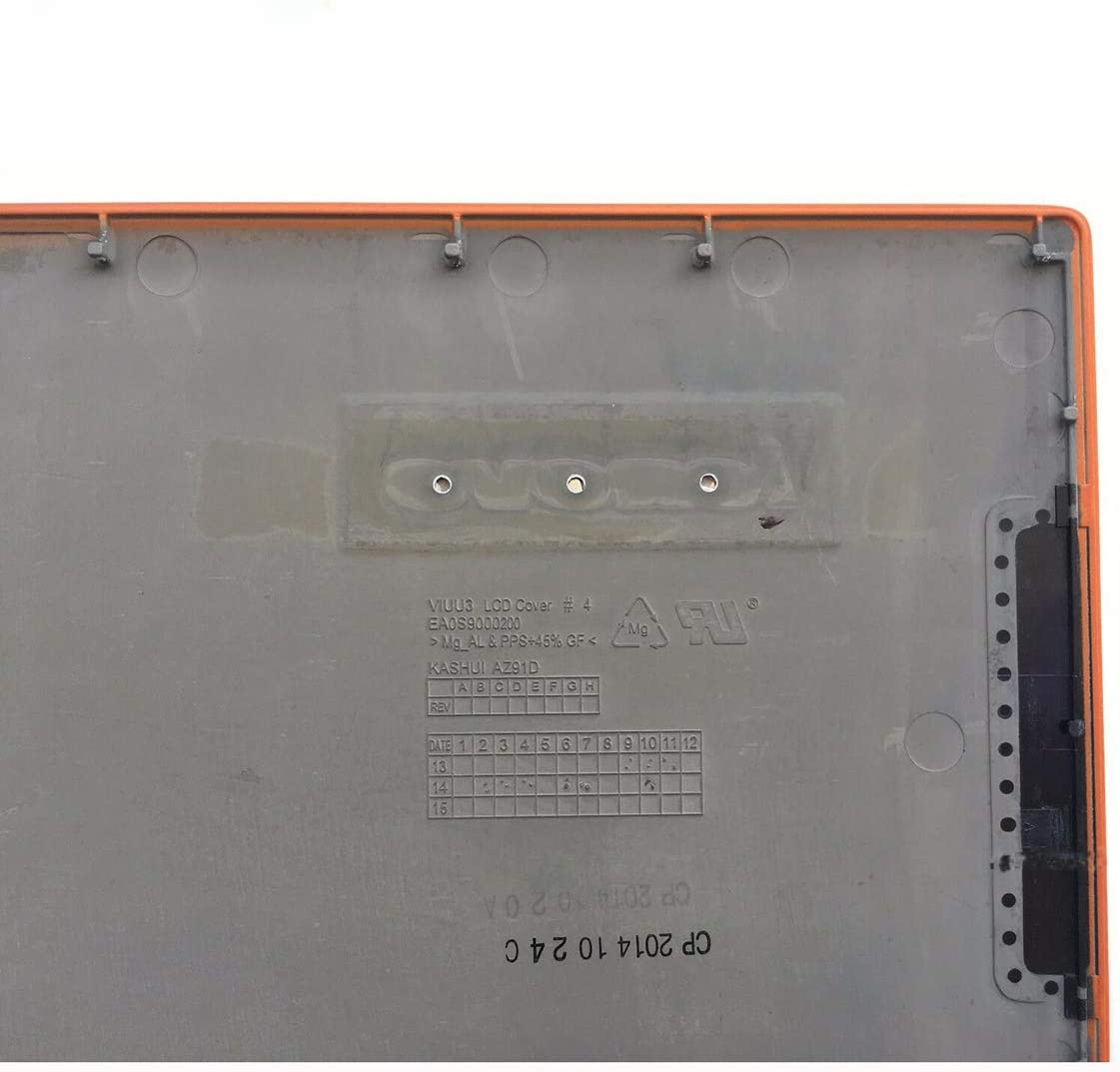 Laptop Replacement LCD Rear Top Lid Back Cover for Lenovo Thinkpad LenovoYoga 2 Pro 13-ATOP Lid Plastic LCD AP0S900020 Orange