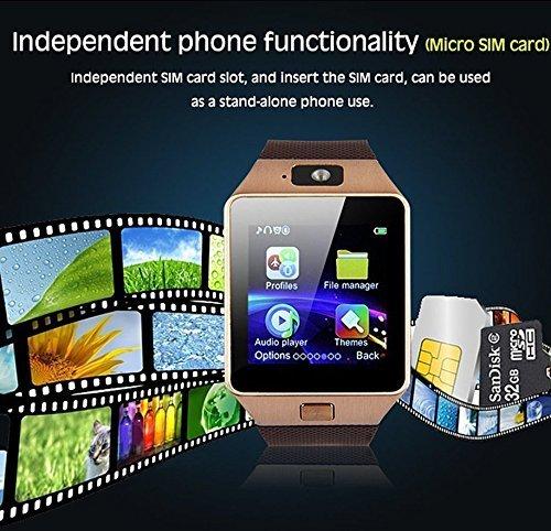 Pandaoo Smart Watch Mobile Phone DZ09 Unlocked Universal GSM
