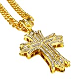 Amazon Price History for:Mens Hip Hop Gold Chain Pendant Big Cross Necklace