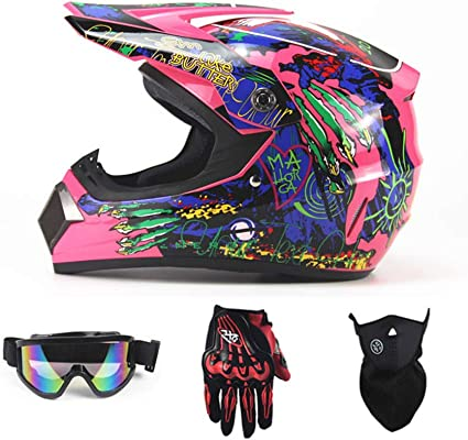 Amazon.es: Casco de motocross para niño, quad, bicicleta, ATV ...