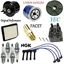Tune Up Kit Filters Cap Rotor PCV Wire Plugs for Honda Civic 1.5L 1988-1991 (D15B2 Eng)
