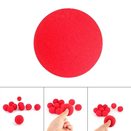 10X Party Sponge Ball Red Clown Magic Nose for Halloween Party Masquerade SL