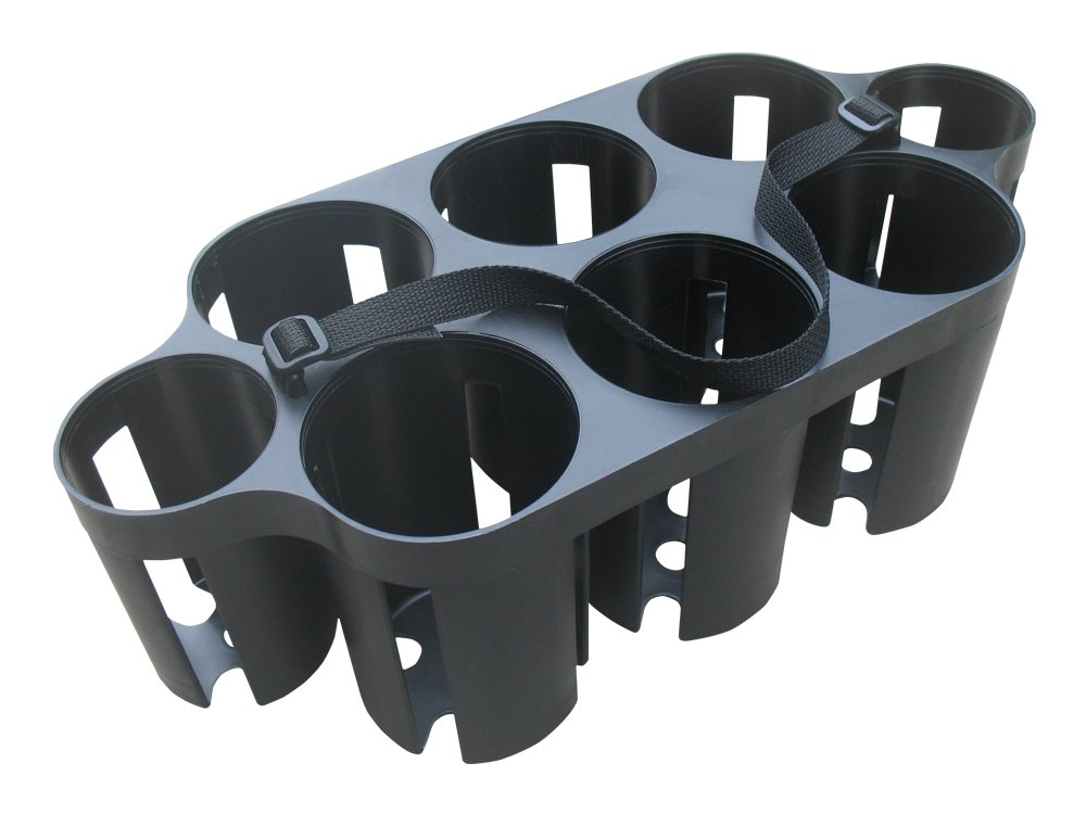 A&R Sports Plastic Carrier Holds 6 Water Bottles PLWBC