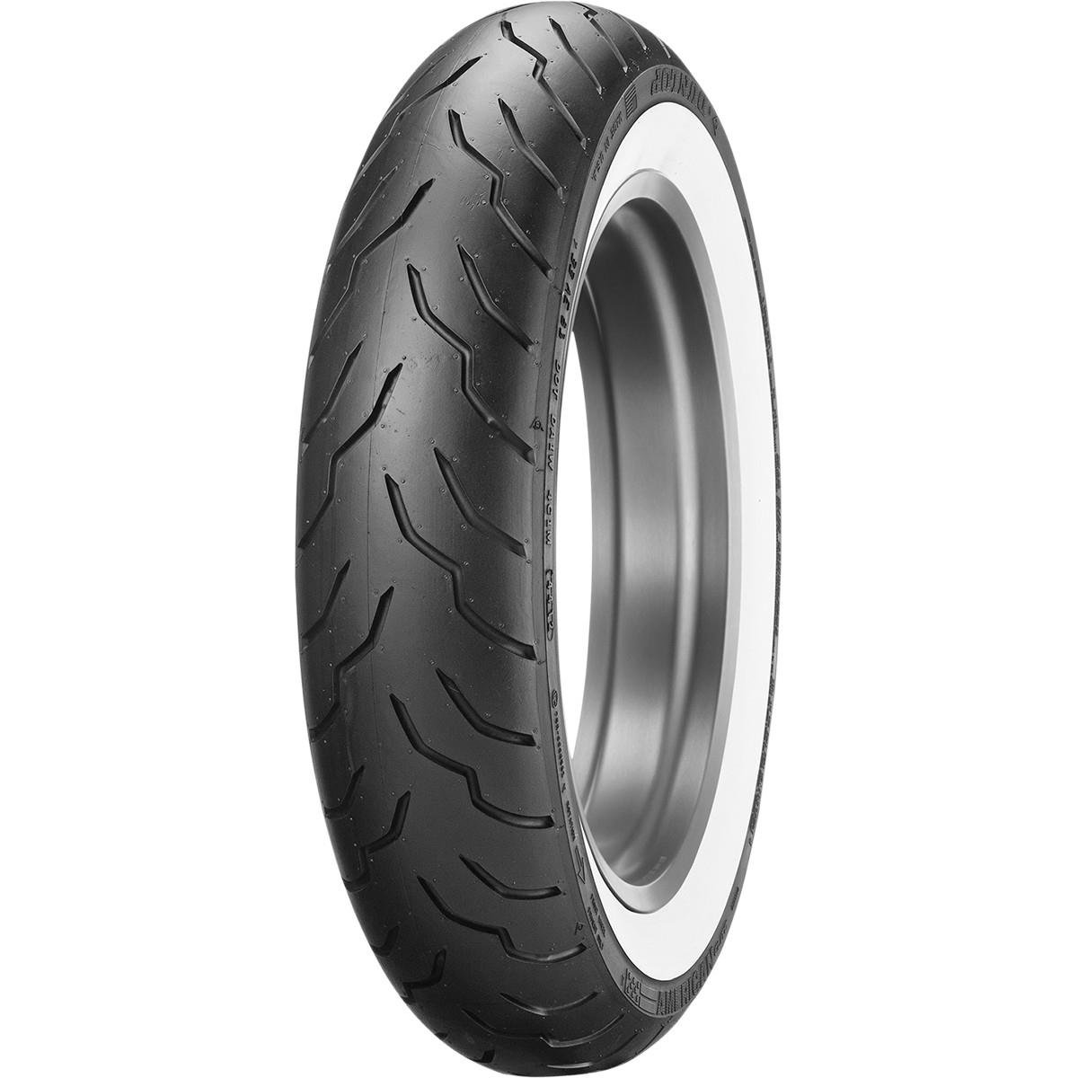 Wide Whitewall // 180//65-16B Dunlop American Elite Whitewall Rear Tire