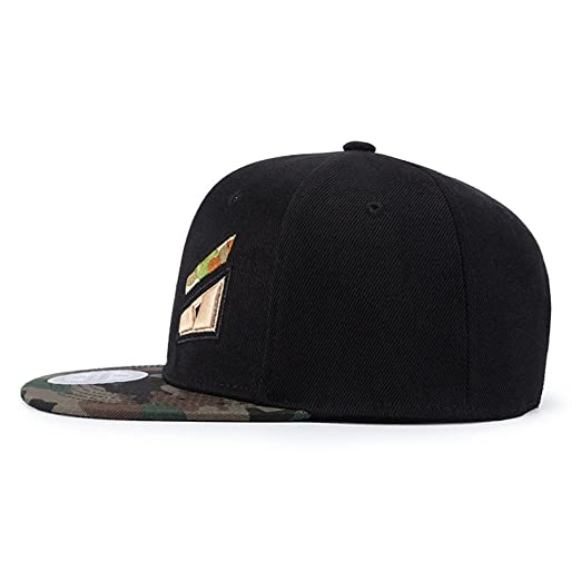 85d6717d636 Amazon.com  doublebulls hats Snapback Cap Black Adjustable Women Men Hats  Baseball Cap Eyes Embroidery  Clothing
