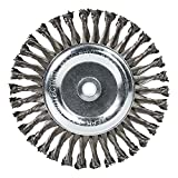 "Mercer Industries 184020 Knot Wire Wheel, 8"" x 5/8"" x (1/2"", 5/8"")"