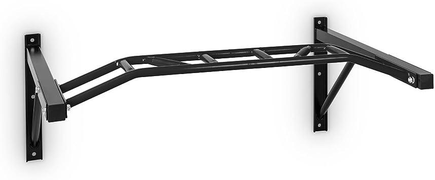 CapitalSports Master Grip Barra para Flexiones en Pared (120 kg de Peso máximo, 127 cm de Ancho, Acero Lacado, Multiples Superficies de Agarre, rápido ...