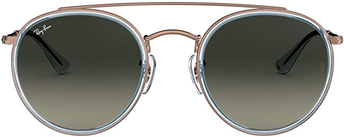 Ray-Ban 0RB3647N, Gafas de Sol Unisex Adulto, Azul (Bronze Copper/Grey Gradient), 51: Amazon.es: Ropa y accesorios