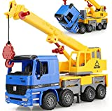 15'' Oversized Friction Crane Truck Construction Vehicle Toy for Kids