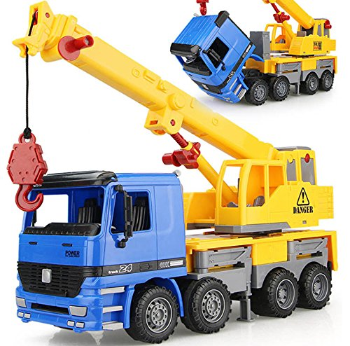 - Liberty Imports 15 inches Oversized Friction Crane Truck Construction Vehicle Toy for Kids