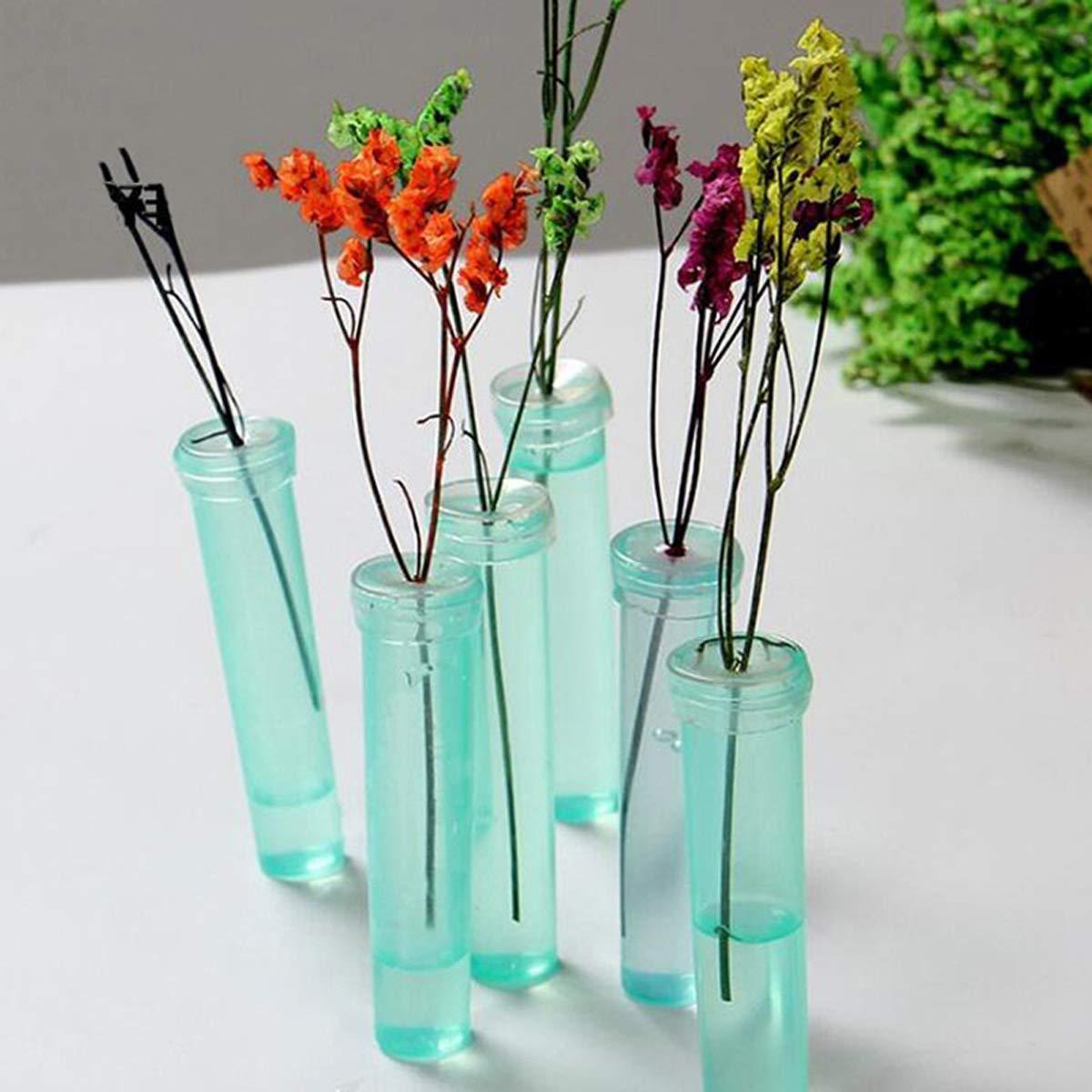 4 Pcs Transparent Flower Arrangements Bottle Flower Water Tubes