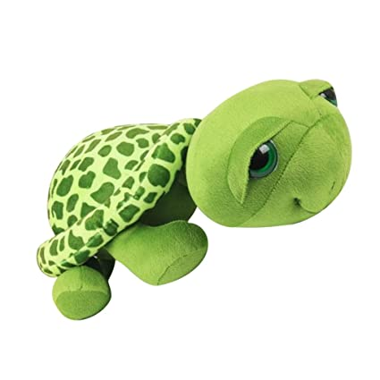 Juguetes Animales de Peluche Ojos Grandes Tortuga Rellena para Niños Bebé Regalo Verde - 20cm