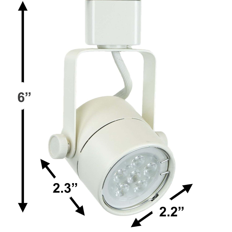 Direct lighting h system 3000k gu10 led track lighting head white with 3000k warm white 7 5w led bulb 50154l