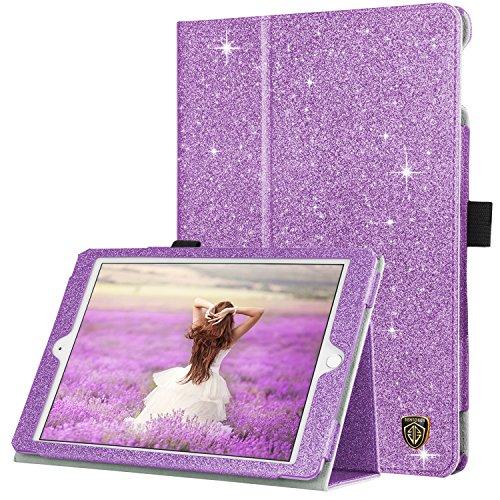 (BENTOBEN iPad 9.7 2018/2017 Case, iPad Air 2 Case, iPad Air Case, Sparkly Glitter PU Leather Folio Stand Smart Cover Auto Wake/Sleep Protective iPad Case for iPad 9.7 2018/2017/Air 1 2, Purple)
