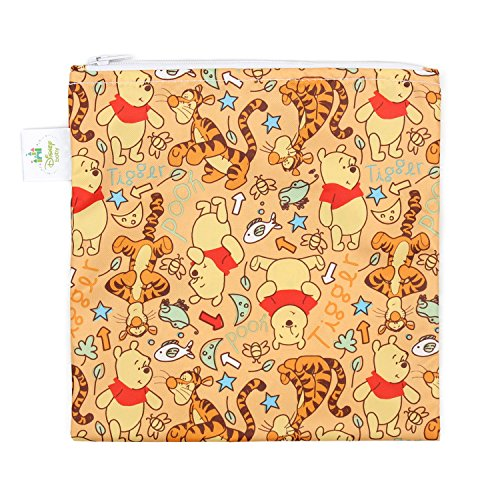 Bumkins Disney Baby Reusable Snack Bag Large, Winnie The Pooh Woods