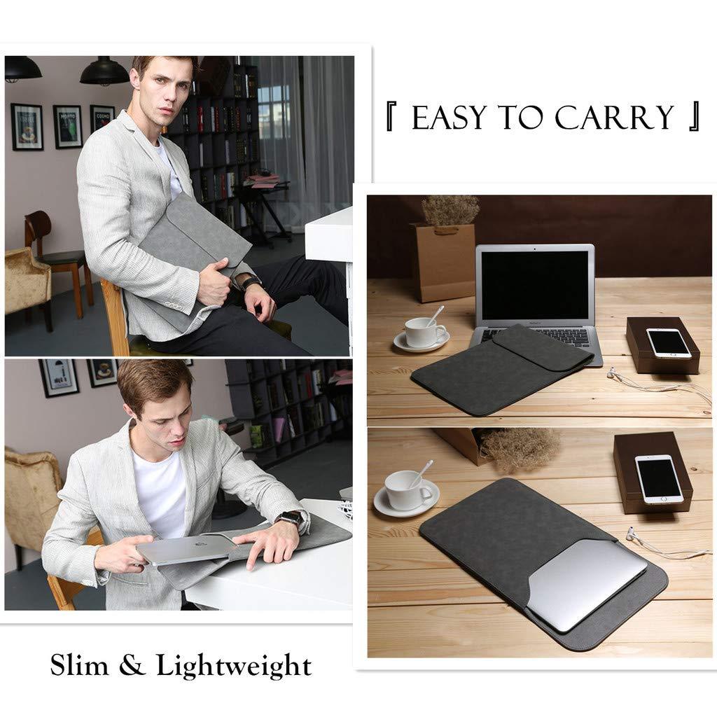 HYZUO Laptop-H/ülle//Schutzh/ülle wasserabweisend Grau dunkelgrau 12.3-13 Inch