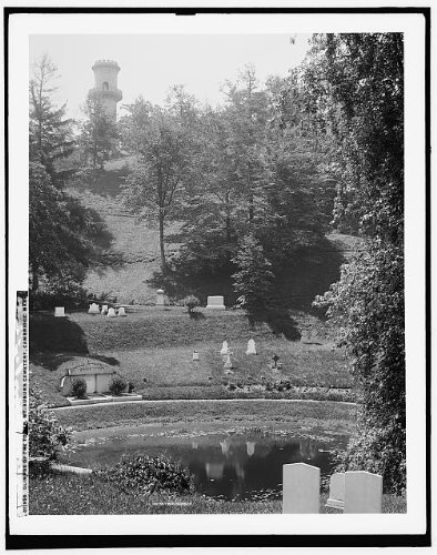 Photo: Glimpse,tower,Mount Auburn - Auburn Map Ma