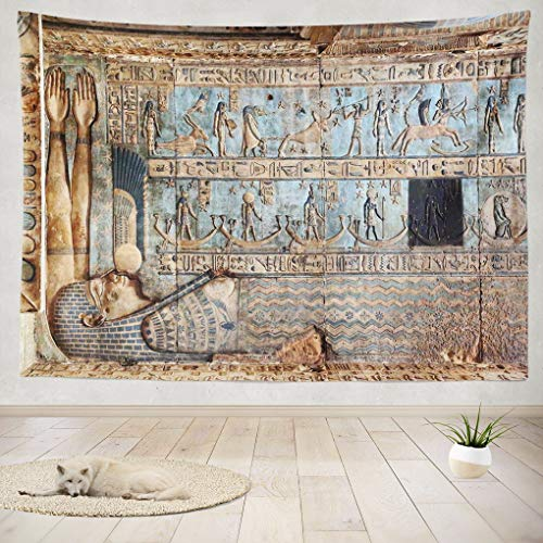 Summor Tapestry Wall Hanging and Walls Ancient Egyptian Art Wall Egypt Stone Home Decorations Living Room Bedroom Dorm 60X50 Inches