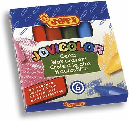 Jovicolor 980 - Ceras, caja de 6 unidades: Amazon.es: Oficina y papelería