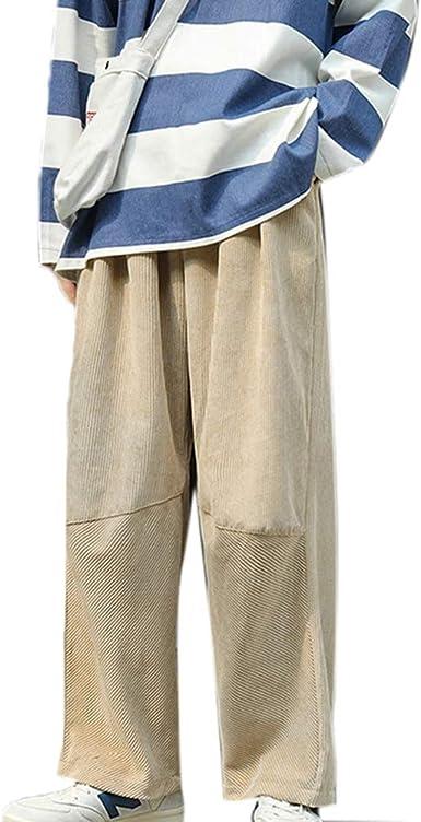 Pantalones Anchos De Pana Casual De Otono Invierno Para Hombre Pantalones Sueltos De Moda De Color Solido Amazon Es Ropa Y Accesorios