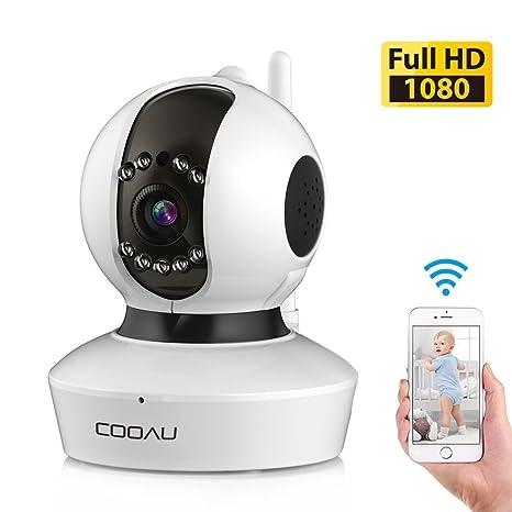 [Nueva Versión] COOAU Cámara IP de Vigilancia Interior 1080P, 2.0 MP HD Wifi