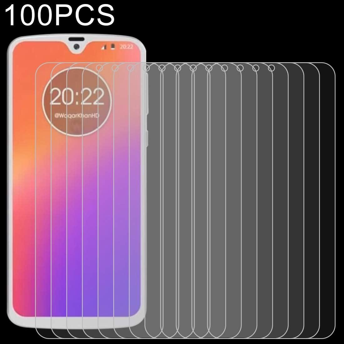 GUOSHU Premium Tempered Glass Screen Film 100 PCS 0.26mm 9H 2.5D Explosion-Proof Tempered Glass Film for Motorola Moto G7 Anti-Scratch Screen Protector