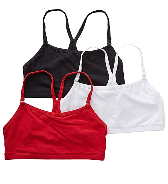 c000f4d6da9c6 Bestform Low Impact Racerback Bra - 3 Pack (5006547) 38 Red Black White at Amazon  Women s Clothing store