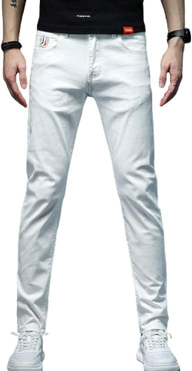 Pantalones Vaqueros para Hombre, sección Delgada de Verano de ...