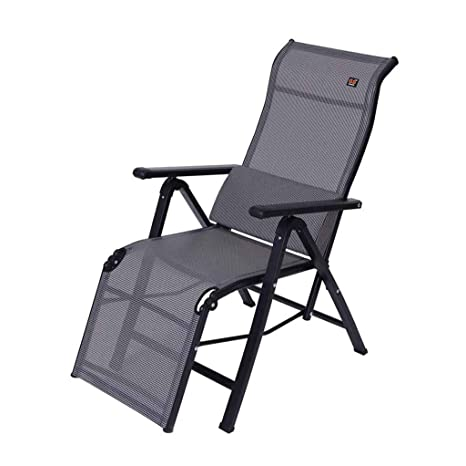 Silla reclinable Plegable Sun Lounger Zero Gravity Lunch Break Sillas de Oficina con Almohada Lumbar (