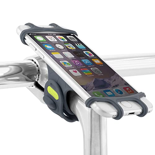 Bike Phone Holder for Stem Mounting 4 to 6 inch Screen Smartphones, Ultra Light Weight, Won't Break or Rust, Designed for Road, Race & Touring Bikes