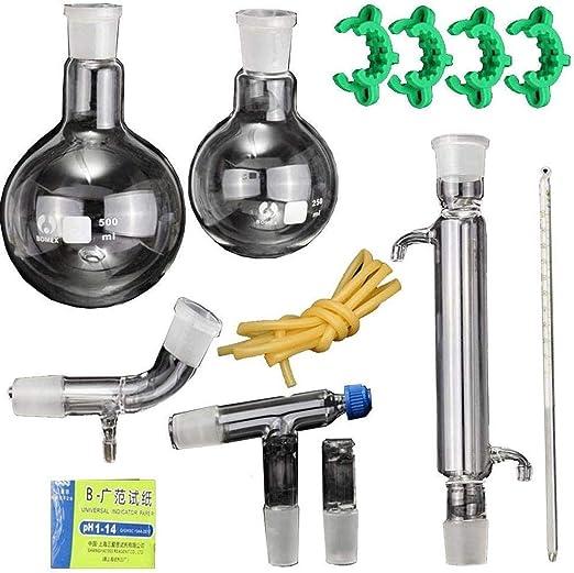 NSDFG Equipo de destilación cristalería Experimento químico Kit ...