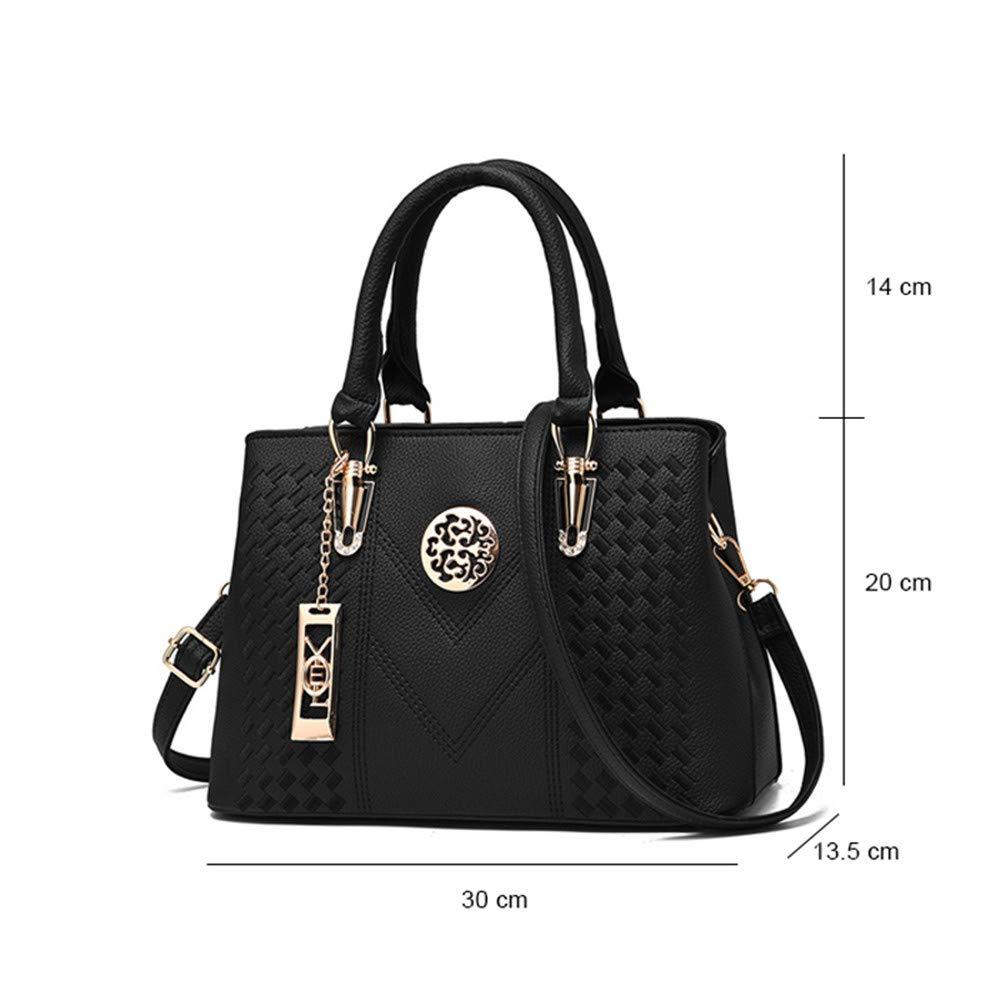 RTYUI Messengerväskor kvinnor läder handväskor väskor för kvinnor mode elegant handväska kvinnor axelväska 30 x 13,5 x 20 cm/grå Grått