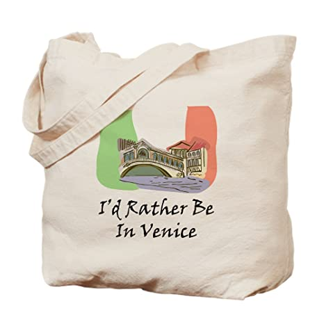 Amazon.com: CafePress – I d Rather BE en Venecia – bolso ...