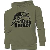 QBEC Pike Hunter Sudadera con Capucha Hunter, Pesca
