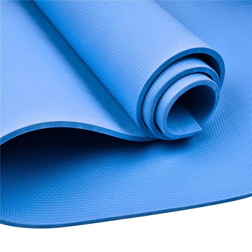 Yoga Sponsi Alfombra de Yoga Colchoneta de Gimnasia con Ejercicio Antideslizante EVA de 8 mm de Espesor hogar Abdominales Pilates Gimnasio Azul estiramientos