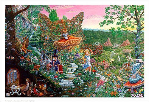 wonderland masse fantasy collage print